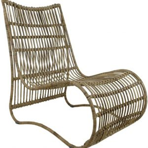 Lounge Stoel Rotan Naturel