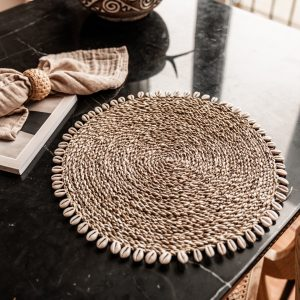 Schelpen Placemat Pandan | Naturel
