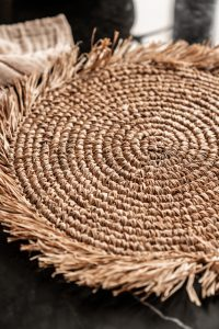 Placemat Raffia Franje | Naturel