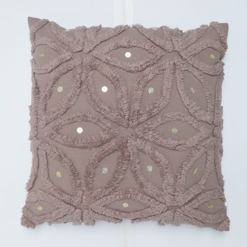 kussen-taupe-paillet-50x50