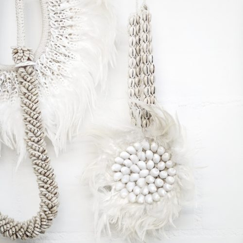 Wanddecoratie Juju Feather Macramé Hanger | Wit