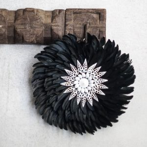 Juju Feather Wandhanger | Zwart