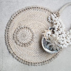 Placemat Rattan Round Shell | Naturel