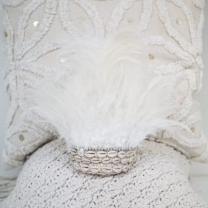 Juju Hat Feathers Shells Verentooi | White