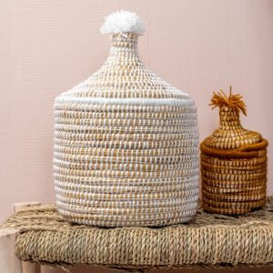 Moroccan Basket Berber Broodmand | Wit
