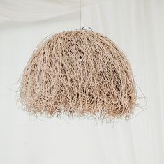 Raffia Hanglamp Beatles | Naturel