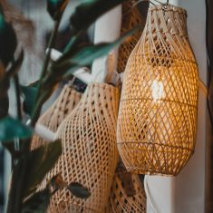 Rotan Hanglamp Fles Model | Naturel