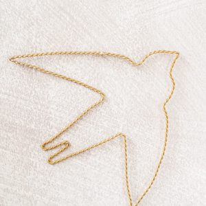 Bird Wire Goud