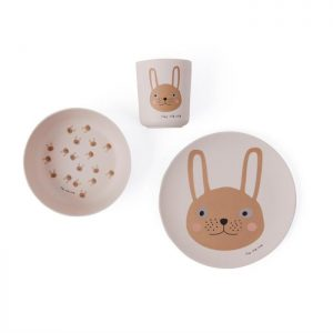 Bamboo Tablewere Set | Rabbit