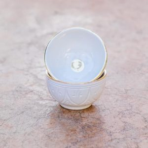 Mini Bowl Gold 24k | White