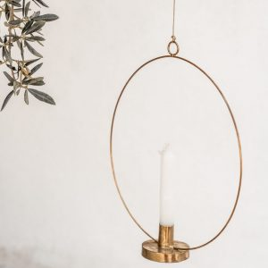 Golden Candle Circle Holder