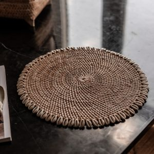Schelpen Placemat Rotan | Naturel