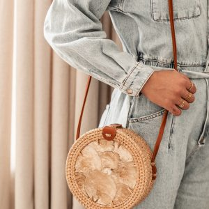Rotan Bag Pearl Round | Naturel