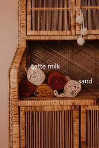 XL cloth hydrofiel doek latte milk sand